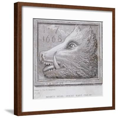 Inn Sign from the Boar's Head Tavern, Eastcheap, London, 1850-Thomas Hosmer Shepherd-Framed Giclee Print