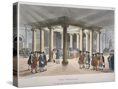 Interior View of the Coal Exchange, Thames Street, City of London, 1808-Thomas Rowlandson-Stretched Canvas Print