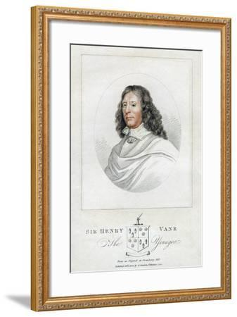 Henry Vane the Younger, Statesman and Member of Parliament, 1814--Framed Giclee Print