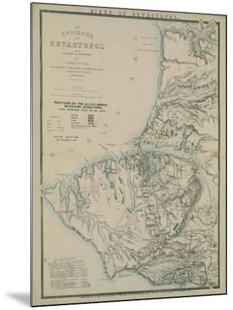 Map of the Environs of Sevastopol, 1854-James Wyld-Mounted Giclee Print