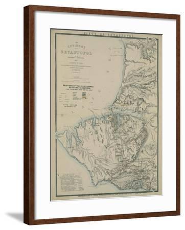 Map of the Environs of Sevastopol, 1854-James Wyld-Framed Giclee Print