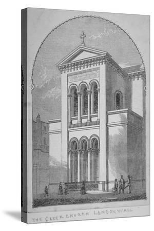 Greek Orthodox Church, Little Winchester Street, City of London, 1850--Stretched Canvas Print