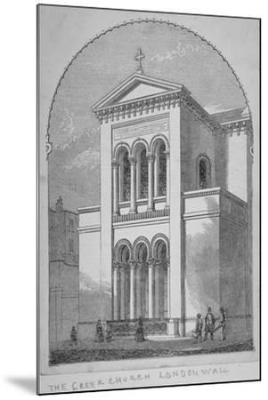 Greek Orthodox Church, Little Winchester Street, City of London, 1850--Mounted Giclee Print