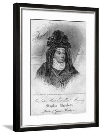 Queen Charlotte, Queen Consort of George III of the United Kingdom, 1818--Framed Giclee Print