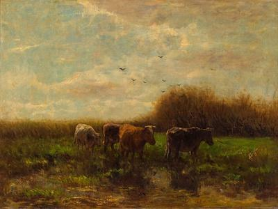 Cows at Evening-Willem Maris-Framed Giclee Print