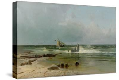 A Sailing Boat by the Beach, 1891-Arseni Ivanovich Meshchersky-Stretched Canvas Print