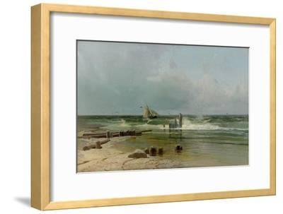 A Sailing Boat by the Beach, 1891-Arseni Ivanovich Meshchersky-Framed Giclee Print