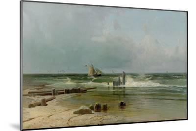 A Sailing Boat by the Beach, 1891-Arseni Ivanovich Meshchersky-Mounted Giclee Print
