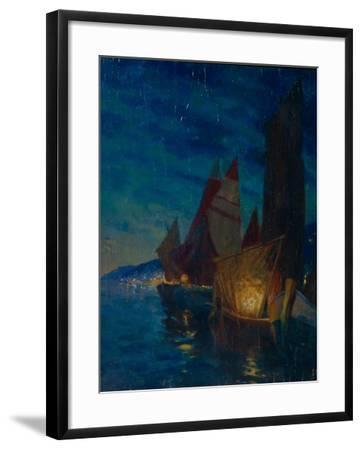 Sails at Night-Alexander Fyodorovich Gaush-Framed Giclee Print