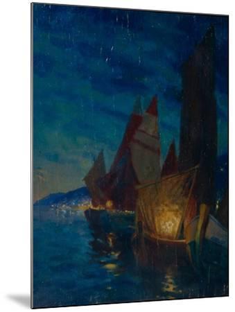 Sails at Night-Alexander Fyodorovich Gaush-Mounted Giclee Print