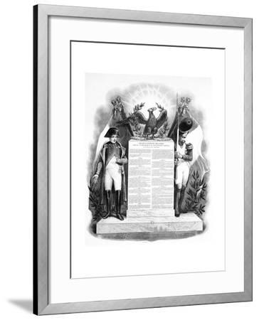 The Organisation of the Imperial Government, 18 May, 1804, 19th Century--Framed Giclee Print