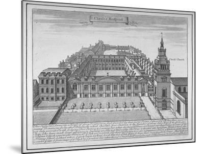 Christ's Hospital, City of London, 1700--Mounted Giclee Print
