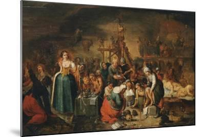 The Witches' Kitchen, Early 17th C-Frans Francken the Younger-Mounted Giclee Print