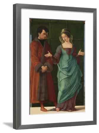 Portia and Brutus-Ercole de' Roberti-Framed Giclee Print