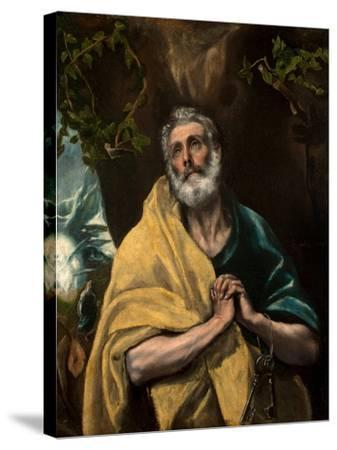 Saint Peter in Tears-El Greco-Stretched Canvas Print