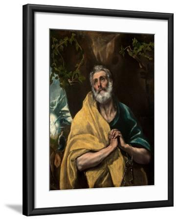Saint Peter in Tears-El Greco-Framed Giclee Print