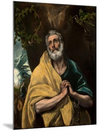 Saint Peter in Tears-El Greco-Mounted Giclee Print
