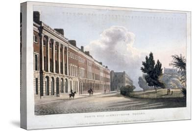 View of the North Side of Grosvenor Square, Westminster, London, 1813--Stretched Canvas Print