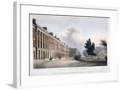 View of the North Side of Grosvenor Square, Westminster, London, 1813--Framed Giclee Print
