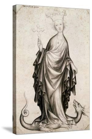 St Margaret, 15th Century--Stretched Canvas Print