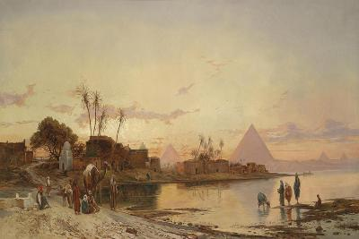 The Banks of the Nile-Hermann David Salomon Corrodi-Giclee Print