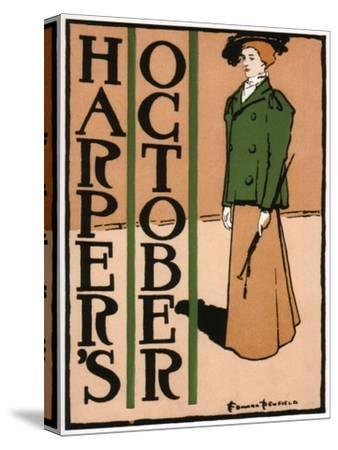 Harper's October, 1895-Edward Penfield-Stretched Canvas Print