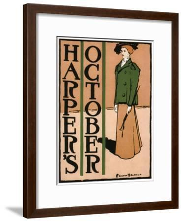 Harper's October, 1895-Edward Penfield-Framed Giclee Print