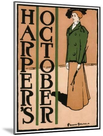 Harper's October, 1895-Edward Penfield-Mounted Giclee Print