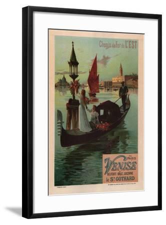 Chemins De Fer De L'Est, 1890-Frédéric Hugo d'Alesi-Framed Giclee Print