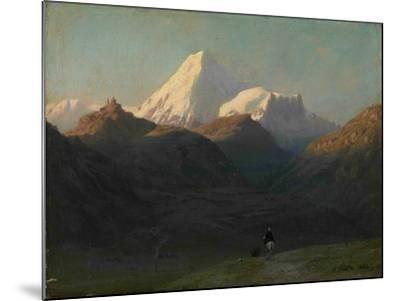 Mountain Landscape, 1868-Lev Felixovich Lagorio-Mounted Giclee Print