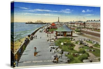 Rockery Promenade, Blackpool, Lancashire, C1940--Stretched Canvas Print