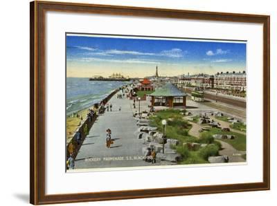 Rockery Promenade, Blackpool, Lancashire, C1940--Framed Giclee Print