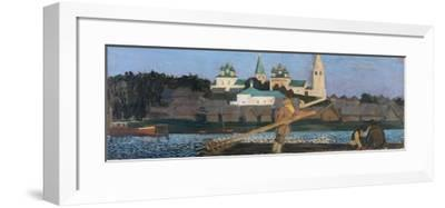 On the Volga, 1906-Boris Michaylovich Kustodiev-Framed Giclee Print