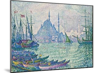The Golden Horn, Minarets, 1907-Paul Signac-Mounted Giclee Print