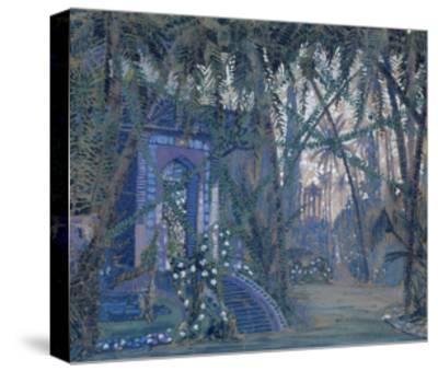 Summerhouse in the Park, 1910-Alexey Alexandrovich Utkin-Stretched Canvas Print