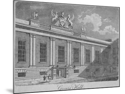 Front View of Grocers' Hall, City of London, 1812--Mounted Giclee Print
