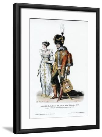 French Court Dress of the Time of the First Empire--Framed Giclee Print