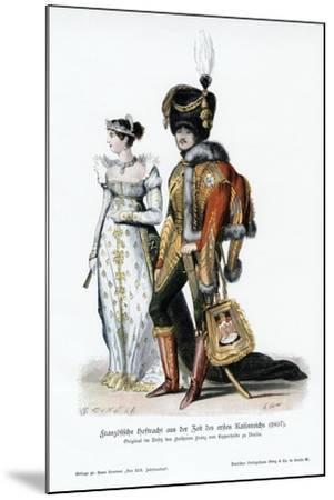 French Court Dress of the Time of the First Empire--Mounted Giclee Print