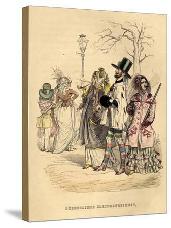 Women's Freedom of Dress, 1840S-Jean-Jacques Grandville-Stretched Canvas Print