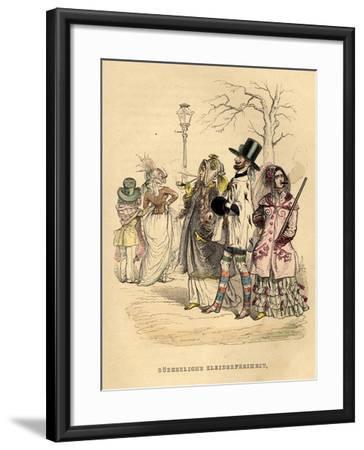Women's Freedom of Dress, 1840S-Jean-Jacques Grandville-Framed Giclee Print