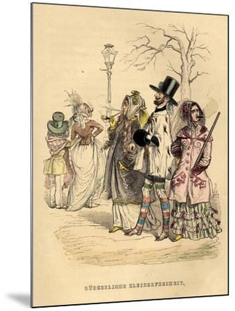 Women's Freedom of Dress, 1840S-Jean-Jacques Grandville-Mounted Giclee Print