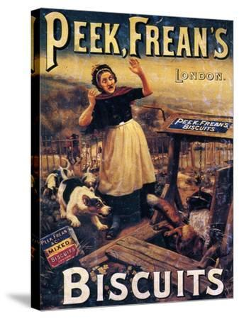 Advertisement for Peek Frean's Biscuits, Late 19th Century--Stretched Canvas Print