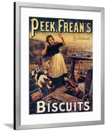 Advertisement for Peek Frean's Biscuits, Late 19th Century--Framed Giclee Print