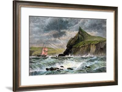 The Entrance to Fowey Harbour, Cornwall, 19th Century--Framed Giclee Print