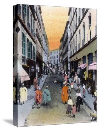Random Street, Algiers, Algeria, Early 20th Century--Stretched Canvas Print