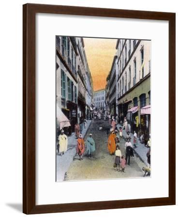Random Street, Algiers, Algeria, Early 20th Century--Framed Giclee Print