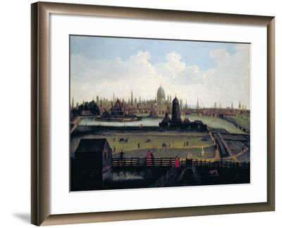 Prospect of the City from the North, London, C1730--Framed Giclee Print