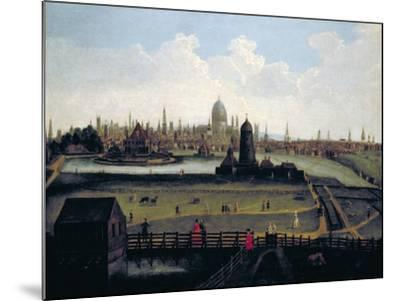 Prospect of the City from the North, London, C1730--Mounted Giclee Print