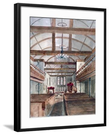 Interior View of St Pancras Old Church, London, 1853--Framed Giclee Print