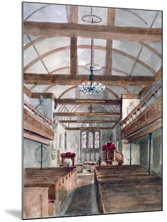 Interior View of St Pancras Old Church, London, 1853--Mounted Giclee Print